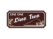 10x24 Custom Carved Poly Sign (One Side)
