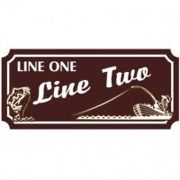 10x24 Custom Carved Poly Sign (Both Sides)