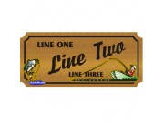 10x24 Custom Carved Wooden Sign (One Side)