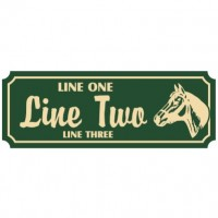 10x30 Custom Carved Poly Sign (Both Sides)