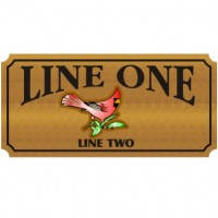 28x48 Custom Carved Wooden Sign (One Side)
