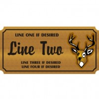 14x48 Custom Carved Wooden Sign (One Side)