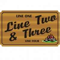 21x36 Custom Carved Wooden Sign (Both Sides)
