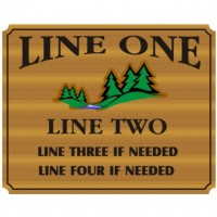 28x48 Custom Carved Wooden Sign (Both Sides)