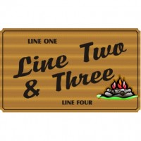 36x60 Custom Carved Wooden Sign (One Side)