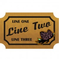 8x12 Custom Carved Wooden Sign (One Side)