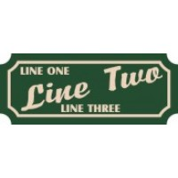 8x18 Custom Carved Poly Sign (One Side)