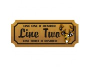 8x18 Custom Carved Wooden Sign (One Side)