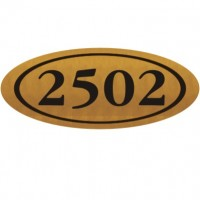 8x18 Oval House Number Wooden Sign