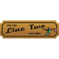 8x24 Custom Carved Wooden Sign (Both Sides)
