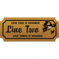 8x24 Custom Carved Wooden Sign (One Side)