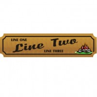 8x30 Custom Carved Wooden Sign (One Side)