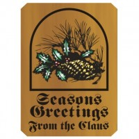 14x20 Wooden Season's Greetings Sign with Name
