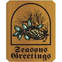 14x18 Wooden Season's Greetings Sign